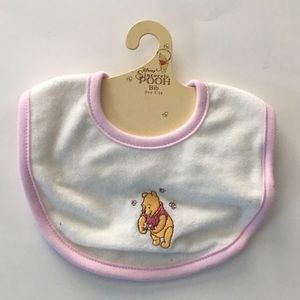 Disney Sincerely Pooh Bib- OS (NWT)